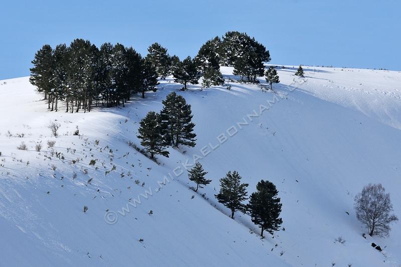 Neige en Vallée d'Aure - Paysage enneigé
