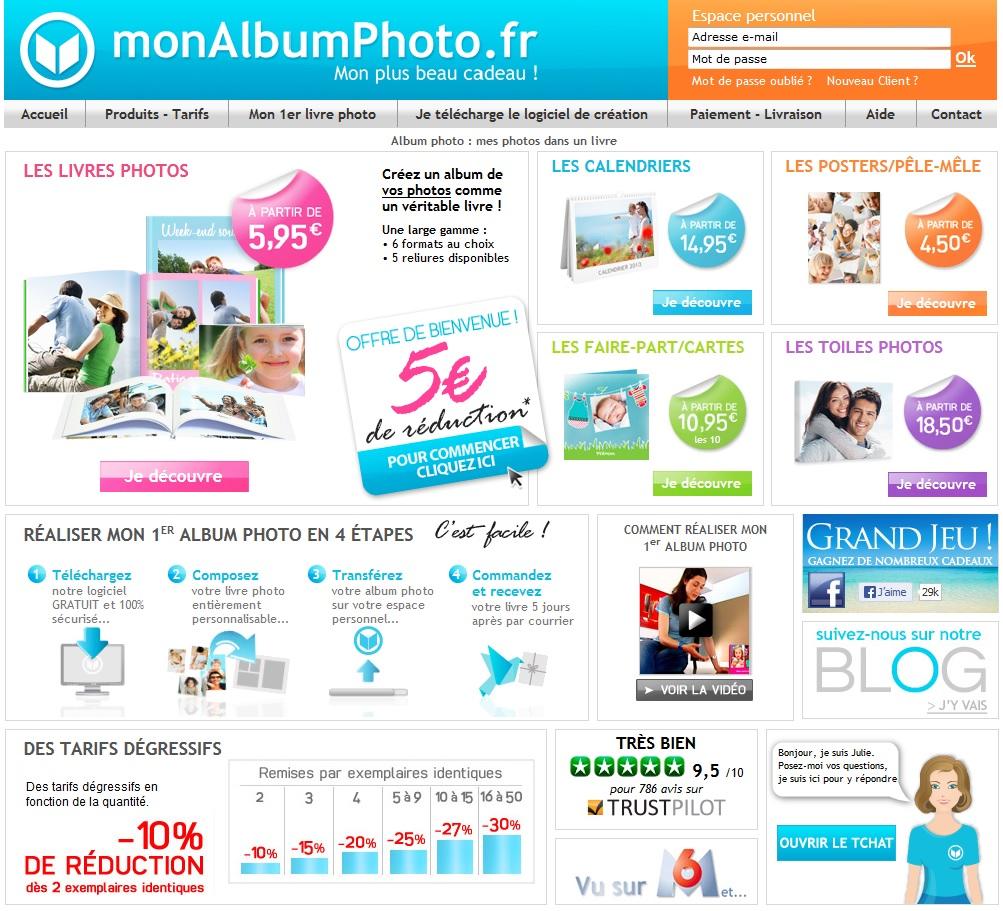 Test livre photo monalbum.fr - Page d'accueil