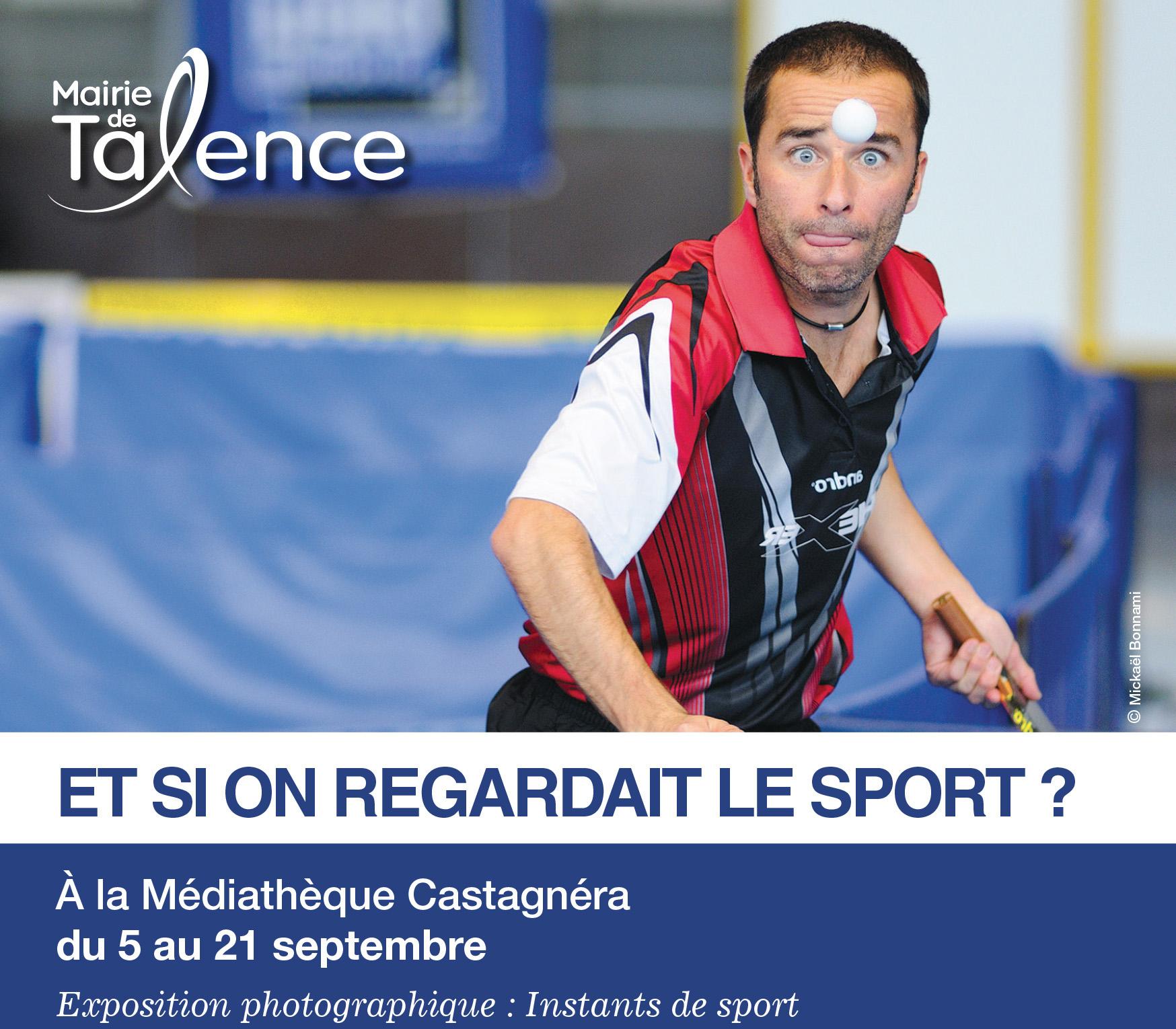 "Flyer de l'exposition ""Instants de sport"" - Mickaël Bonnami"