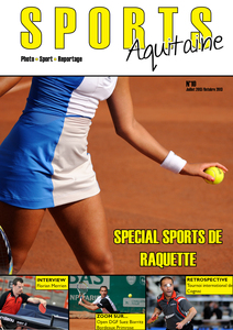 Couverture du magazine Sports Aquitaine N°10 Spécial Sports de raquette