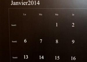 Détail écriture calendrier - Pixum