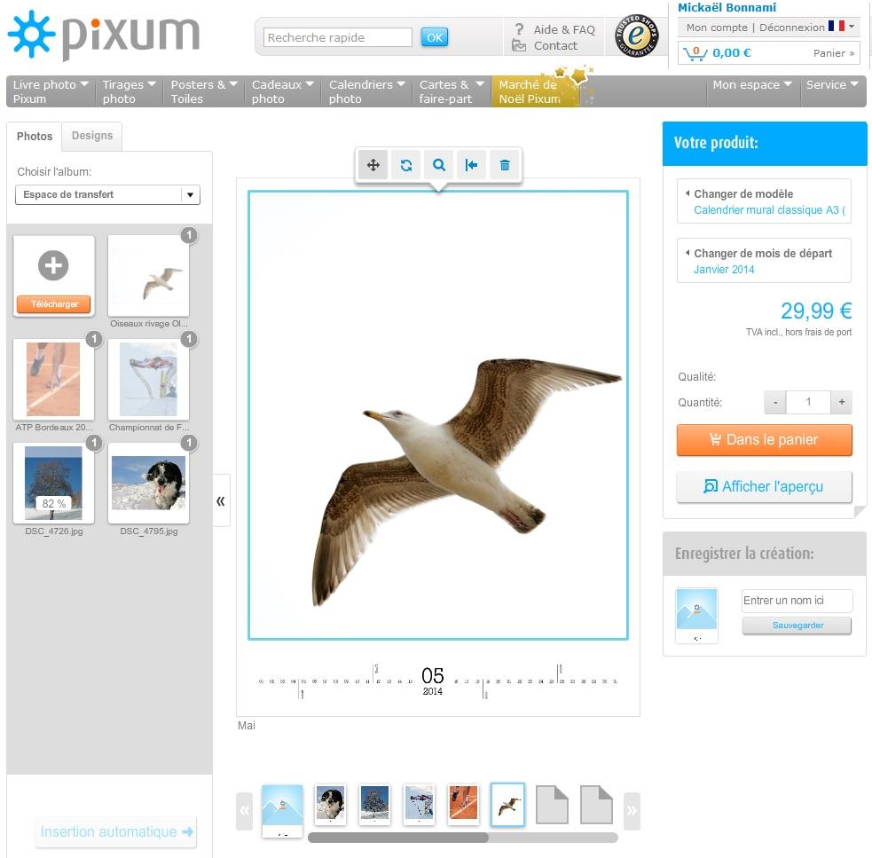 Interface site - Pixum