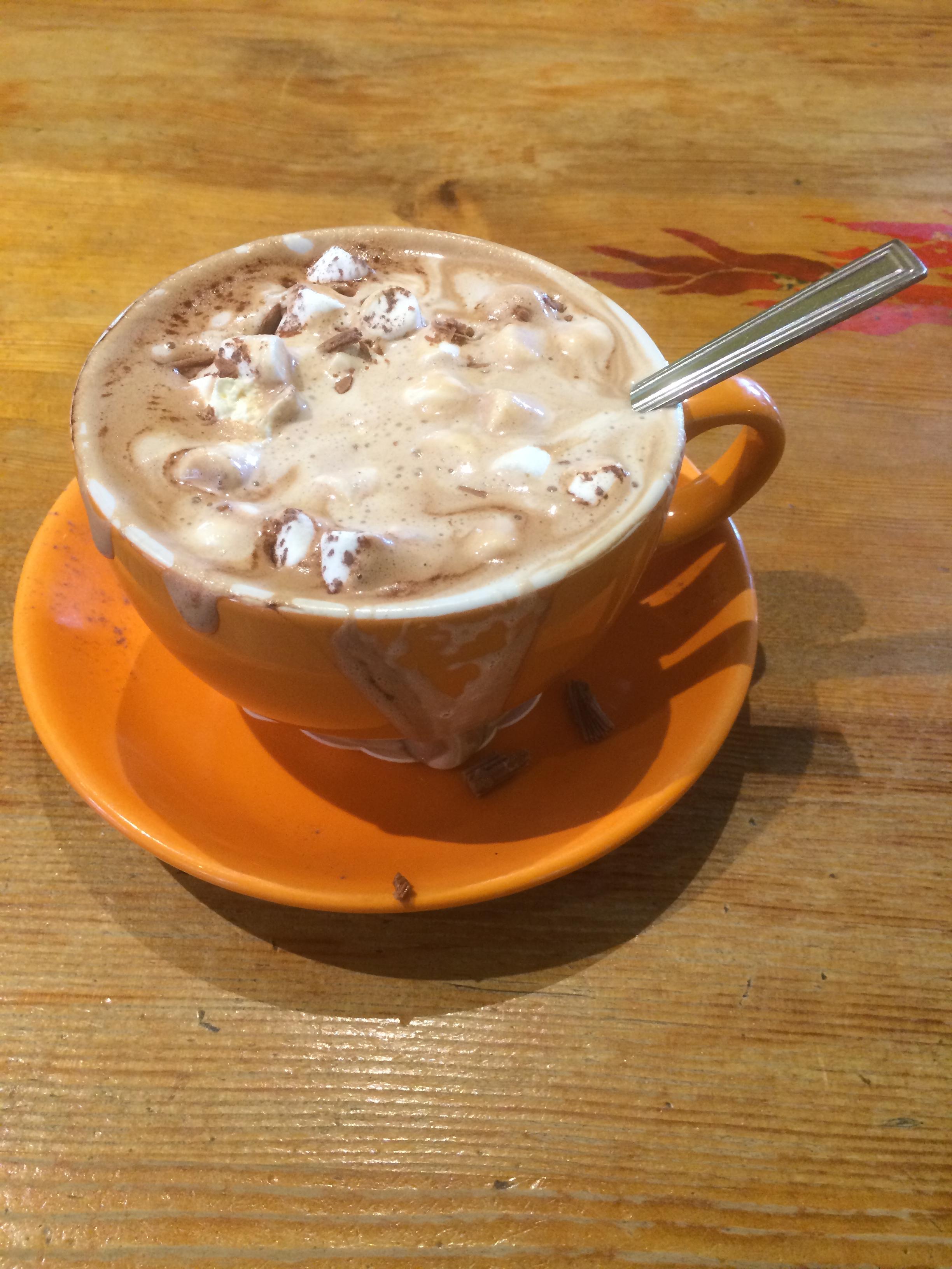 Chocolat chaud et marshmallow - Café Arriba - Portree - Ile de Skye - Ecosse