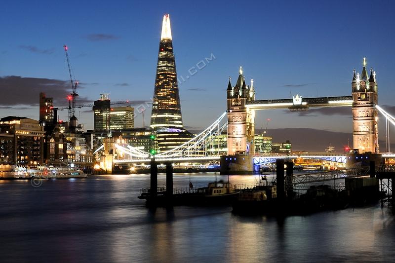 London - Londres - The Shard - Tower Bridge