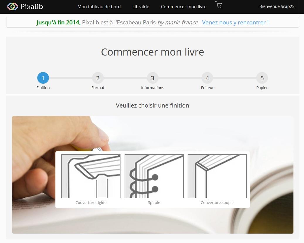 Commencer le livre Pixalib