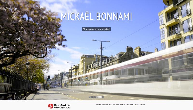Site web Mickaël Bonnami Photographe
