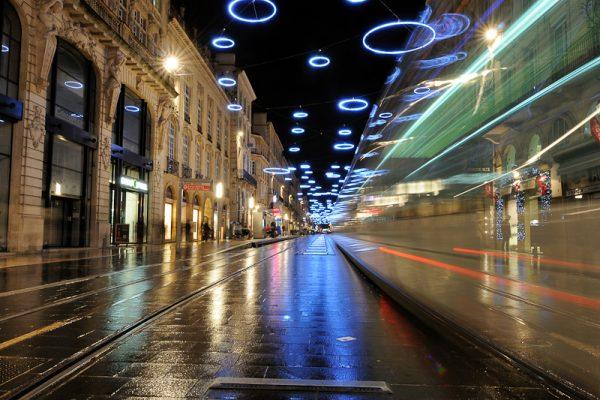 Bordeaux - Illuminations de Noël - Tram