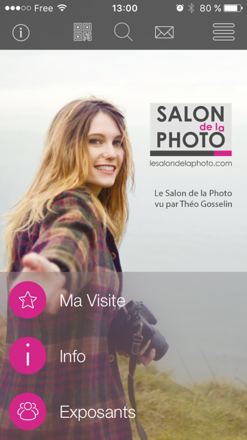 Application mobile du Salon de la Photo 2015