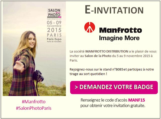 Invitation Manfrotto - Salon de la Photo 2015