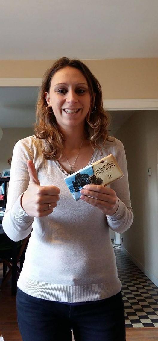Laurie la grande gagnante de mon petit concours improvisé - Islande - Chocolat