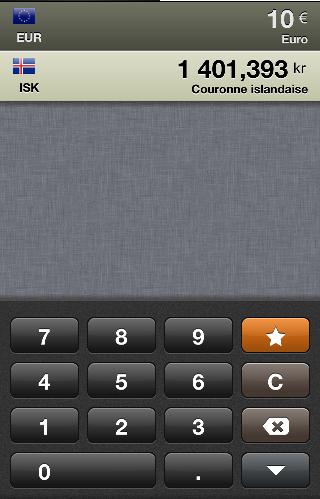 Convertisseur de monnaie - Application iphone - Islande