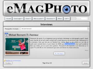 Interview dans le eMagPhoto - 15 décembre 2012