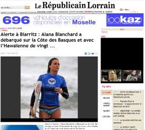 Parution dans le journal Le Républicain Lorrain - 13 juillet 2011