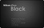 Carte Nikon pro - Black