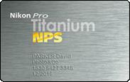 Carte Nikon pro - Titanium