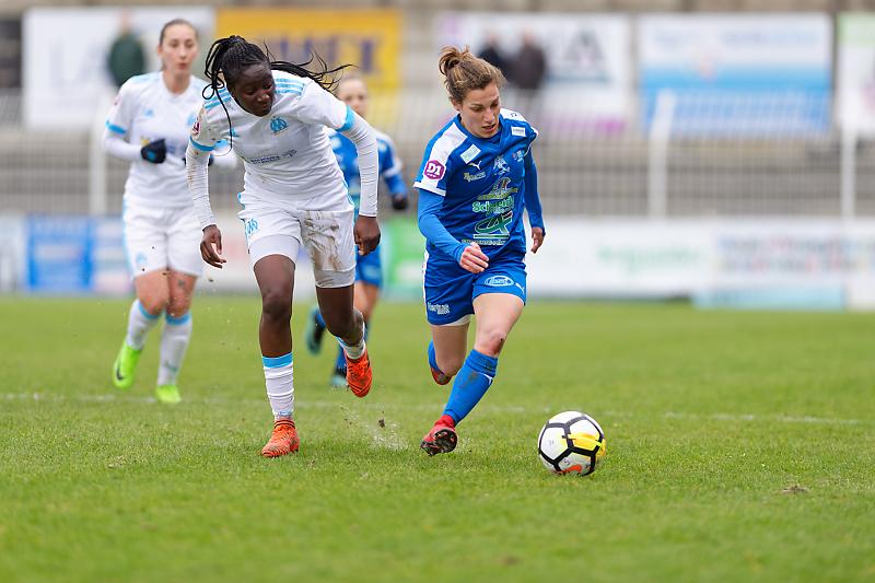 Soyaux-Marseille - Football - Championnat D1 Féminine - Laura Bourgoin - Hawa Cissoko