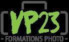 Logo VP23 - Formations photo - Cours photo - Stage Photo - Voyage photo - VP23 - Mickaël Bonnami Photographe