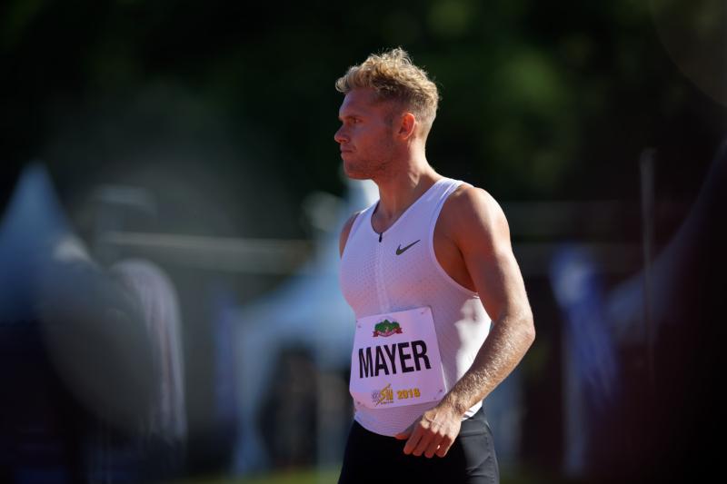 Décastar 2018 - Kévin Mayer - 100m - 16 septembre 2018 Kévin Mayer bat le record du monde de décathlon avec 9126 points