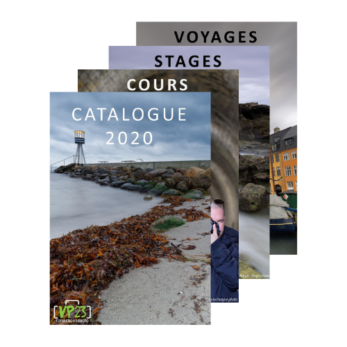 Catalogue des formations photo VP23 - Cours photo - Stage photo - Voyage photo