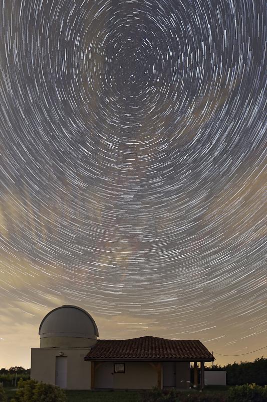Astrophoto - Circumpolaire - Observatoire de Vayres - Véga de la Lyre