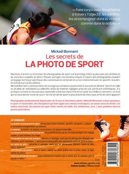 Les secrets de la photo de sport - Editions Eyrolles - Mickaël Bonnami Photographe
