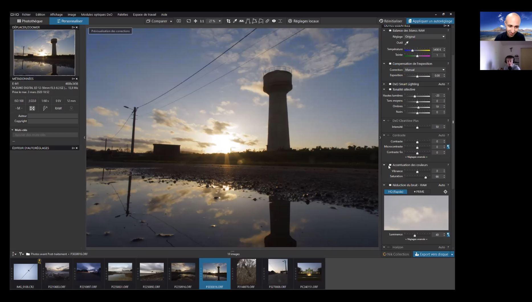 Cours photo post-traitement - DXO Photolab - Formation photo VP23