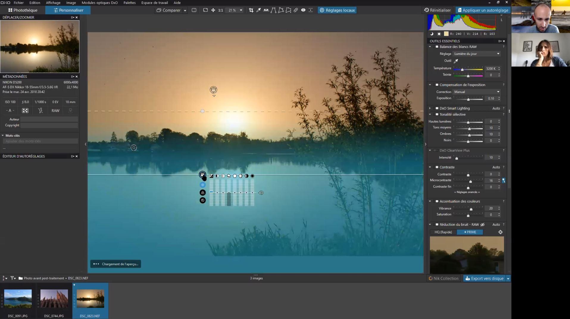 Cours photo post-traitement DXO Photolab 4
