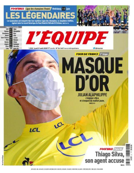 Une journal l'Equipe - Sport féminin - Ol championne d'Europe - Tour de France